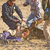 Girl being rescued from Golden Eagle's talons.